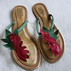 Kate Spade Ivy Parrot Sandals Size 8